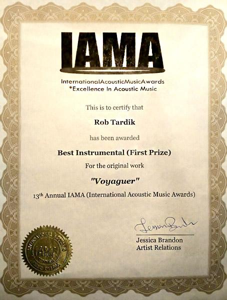 AWARDS – IAMA – Rob Tardik