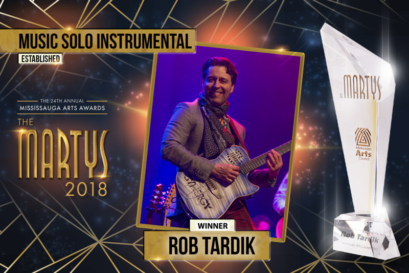 Rob has now followed up with his 2nd MARTY in 2018, in the category of Established Solo Instrumental Artist of the Year